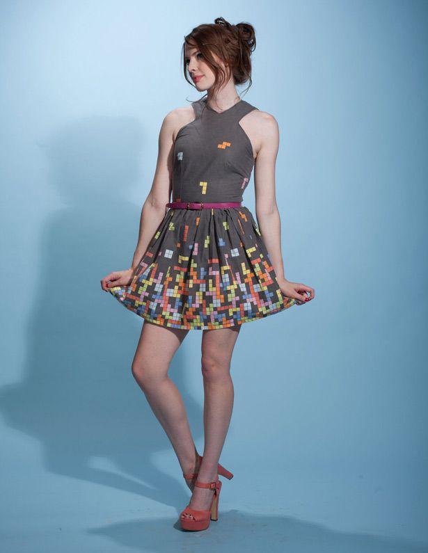 Fabuloso vestido Tetris