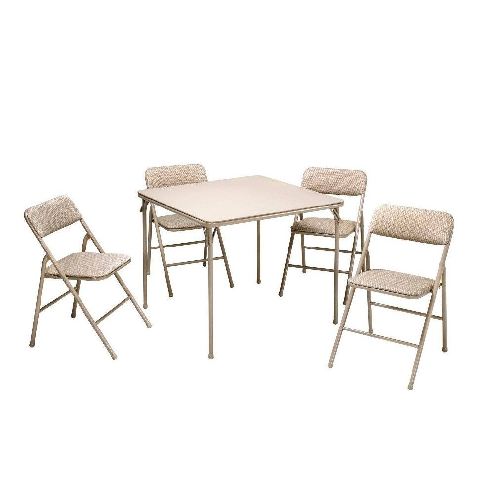 5pc Folding Table And Chair Set Tan Room Joy Wheat Diamond
