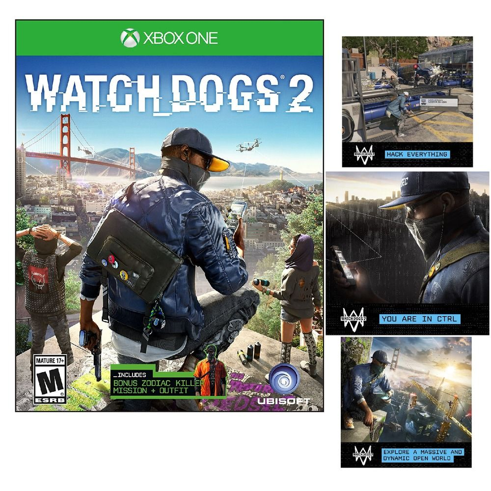 Watch Dogs 2 Xbox One  New Microsoft Edition 2016 Sealed Brand  Free Shipping