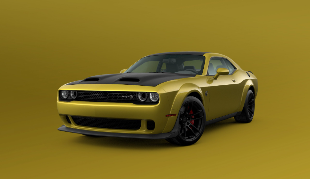 Gold Rush Dodge Gleefully Gilds The 2021 Challenger Hagerty Media Dodge Challenger Dodge Muscle Cars Dodge Challenger Models