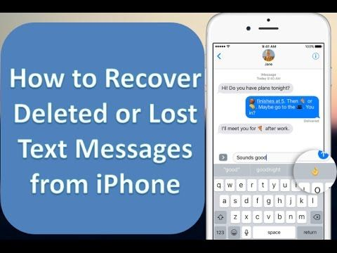 How To Recover Deleted Text Messages From Iphone 7 6 5 Text Messages Messages Iphone G