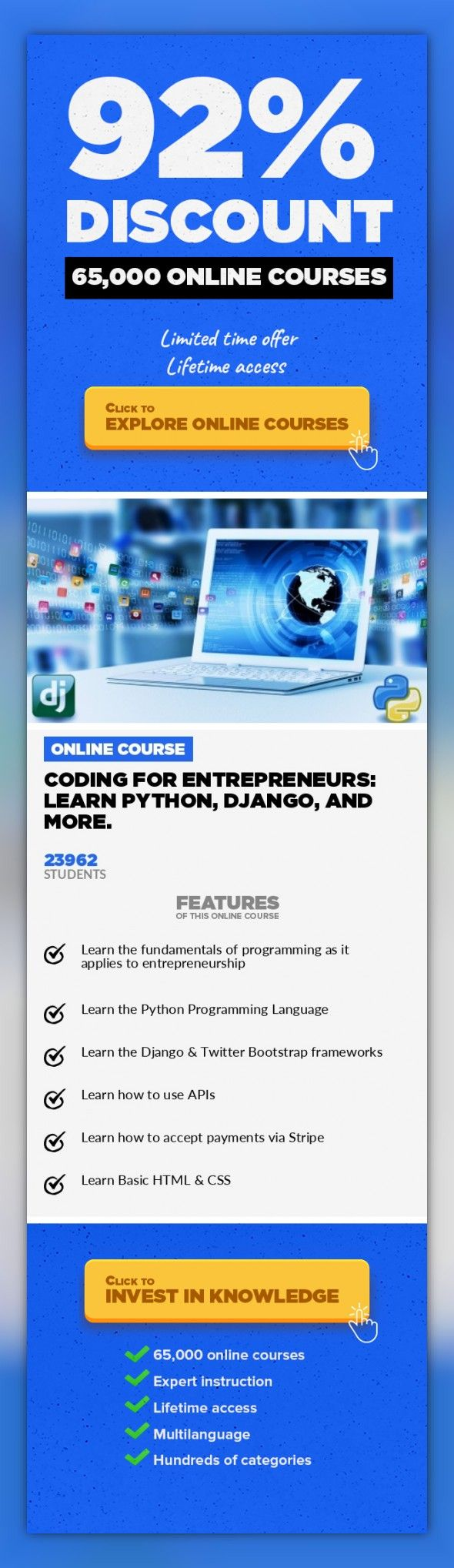 Coding for entrepreneurs learn python django and more web coding for entrepreneurs learn python django and more web development development online training design free online learning a programming class for malvernweather Images