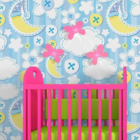 Papel de parede adesivo baby lua - StickDecor   Decoração Criativa