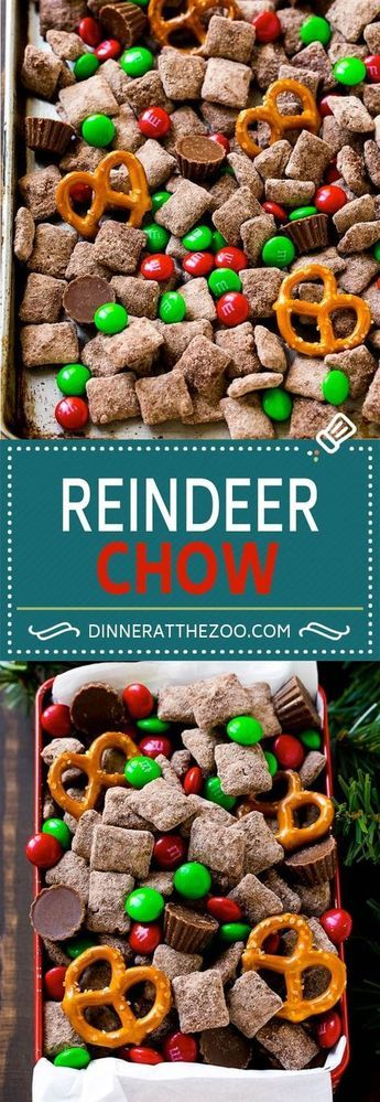 Reindeer Chow | Christmas Chex Mix | Christmas Muddy Buddies | Holiday Chex Mix - perfect holiday treat! #holidaydesserts