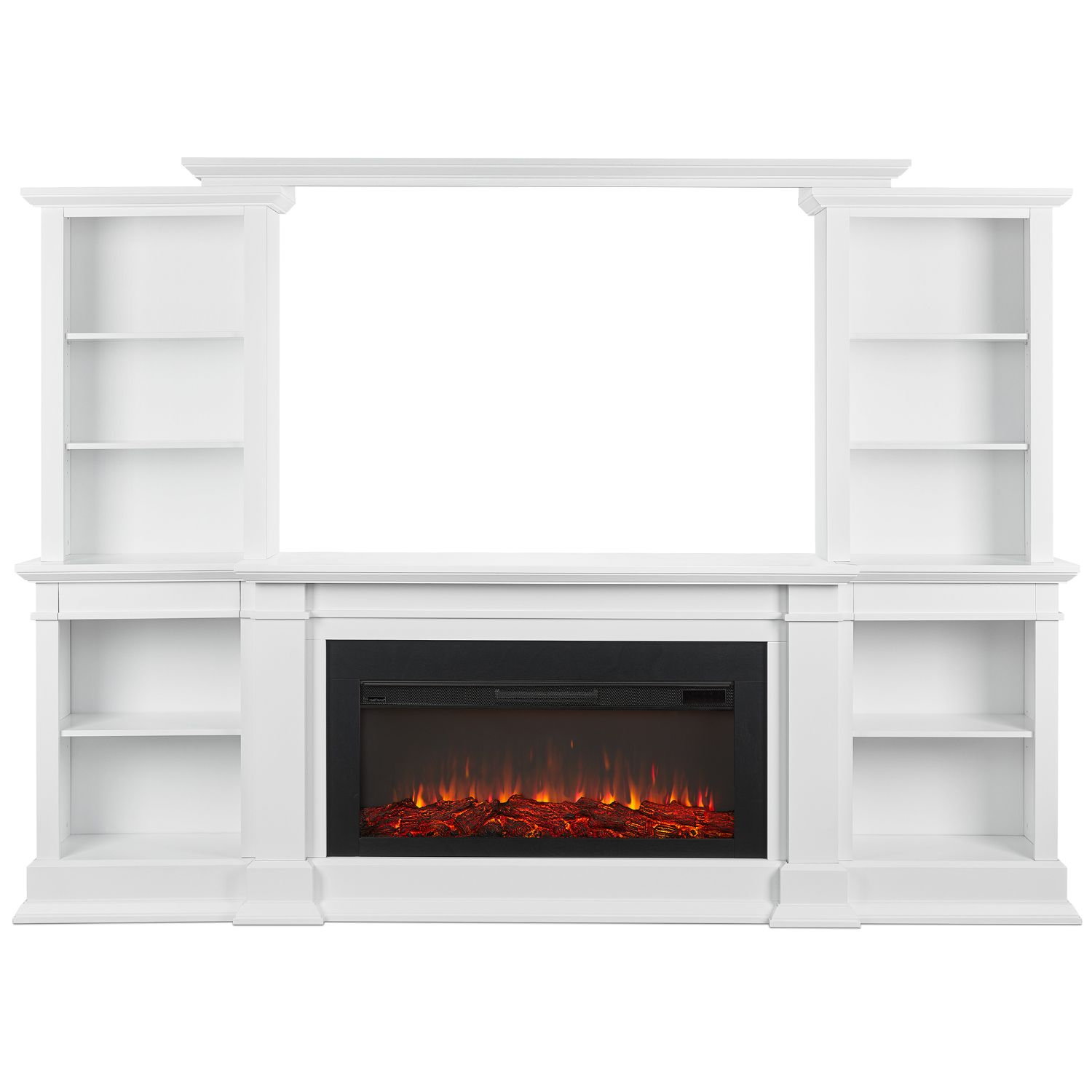 Real Flame 9900e W Montevista Electric Media Fireplace White Electric Fireplace Wood Entertainment Center