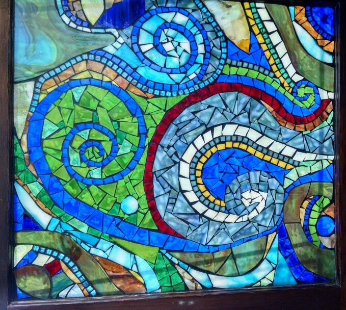 stained glass mosaic window by groovysquid glass more at www