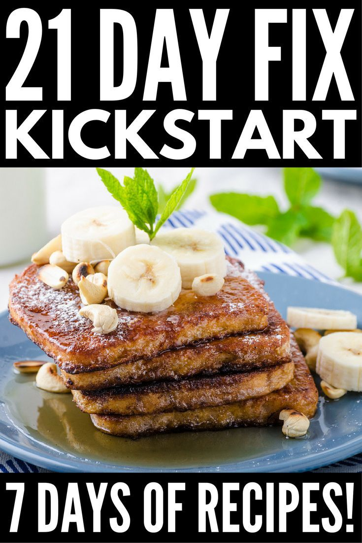 21 Day Fix Meal Plan for Beginners: Sample 7-Day Kickstart Guide! images