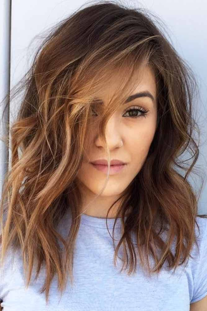 50 Chic Medium Length Layered Hair | Braids for medium length hair, Medium length hair with ...