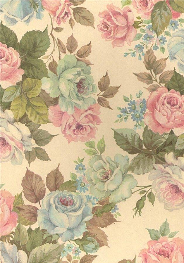 Floral Pattern Roses Vintage