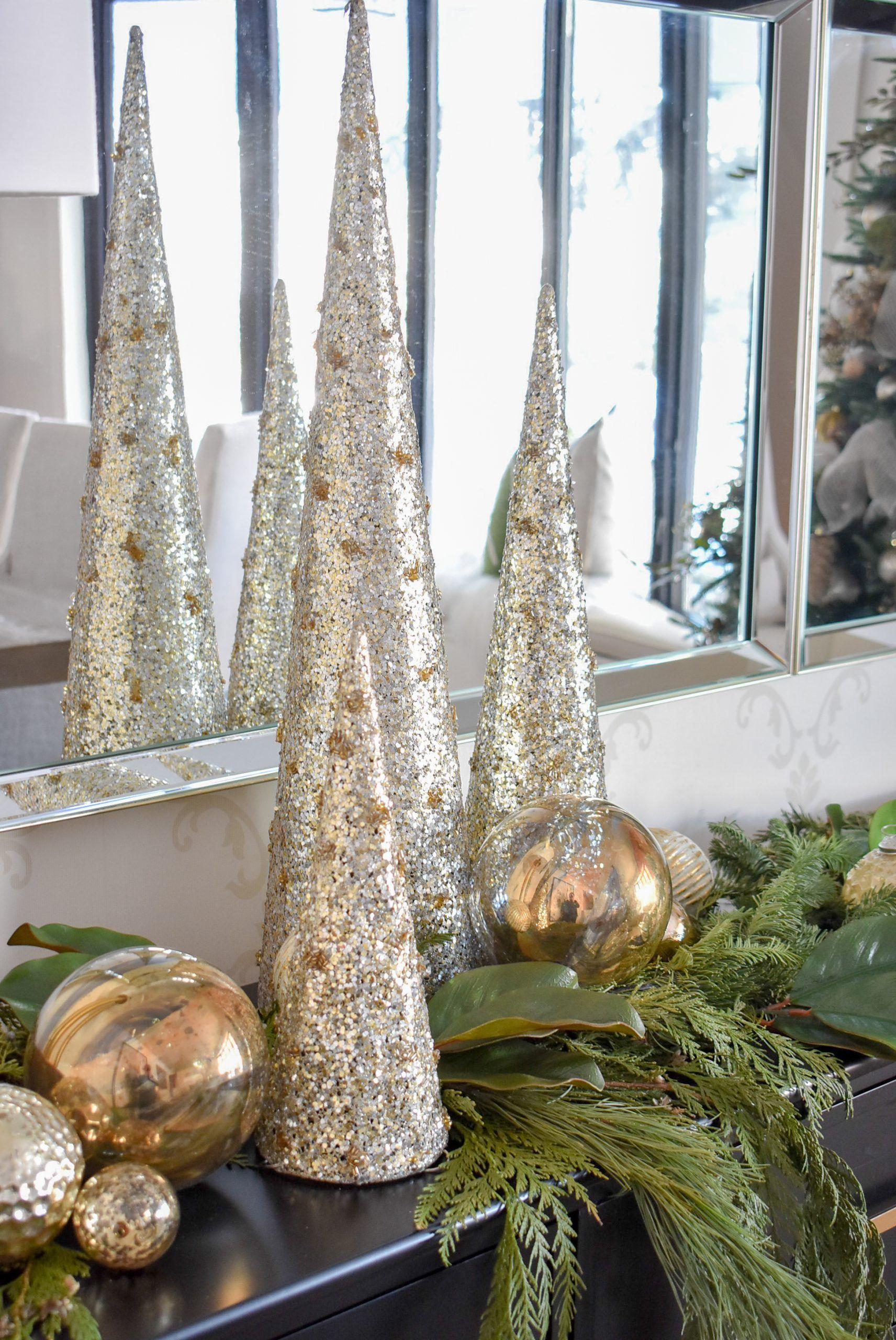 Amosfun 10 Pcs Foam Cones Handmade Solid Craft Cones Decoration Cones DIY Cones for Christmas Xmas Party Banquet