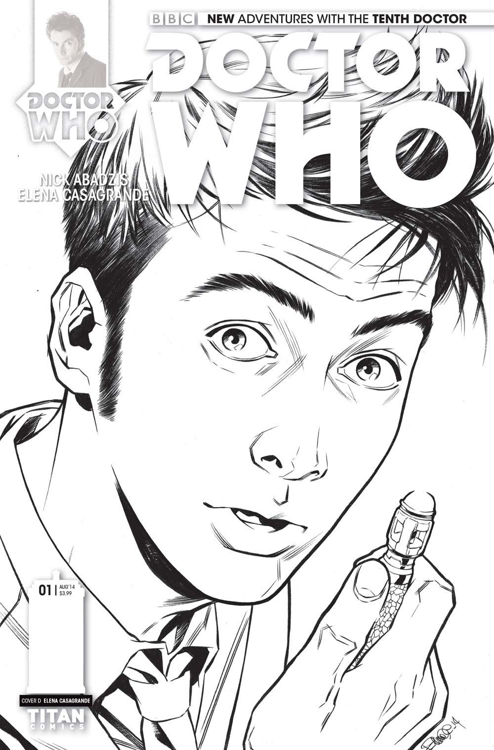 Doctor Who Coloring Page The Adventures Of The Tenth Doctor Cover