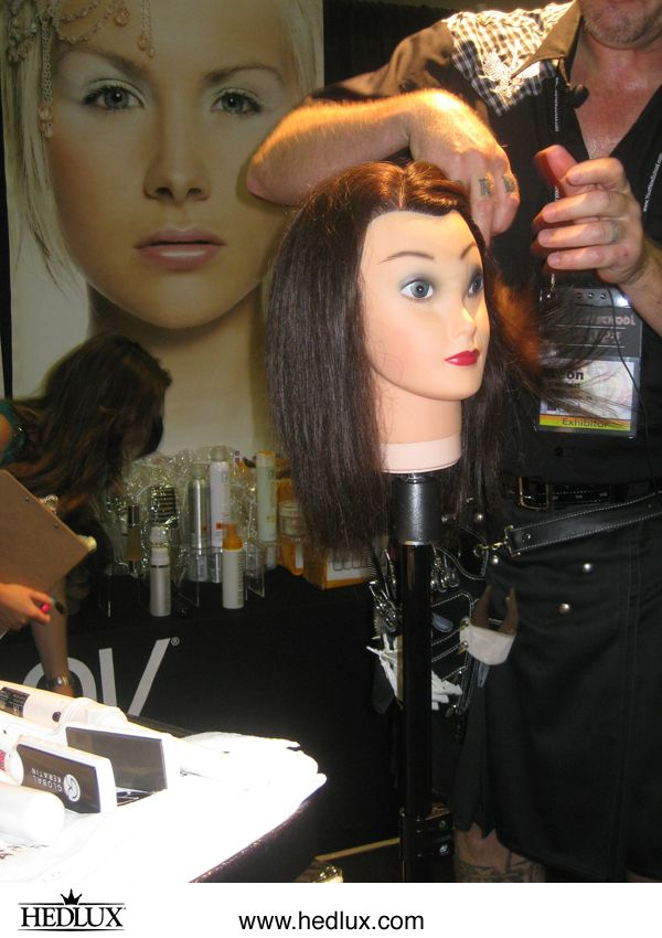 "GKhair demonstrated at the ""Lux Lounge"" (HedLux) booth during the 2012 CEA Convention.    Visit www.hedlux.com and use code LUXLOVE for 25% off retail purchases - including hair extensions!"