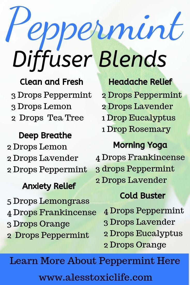 Peppermint Oil Diffuser Blends