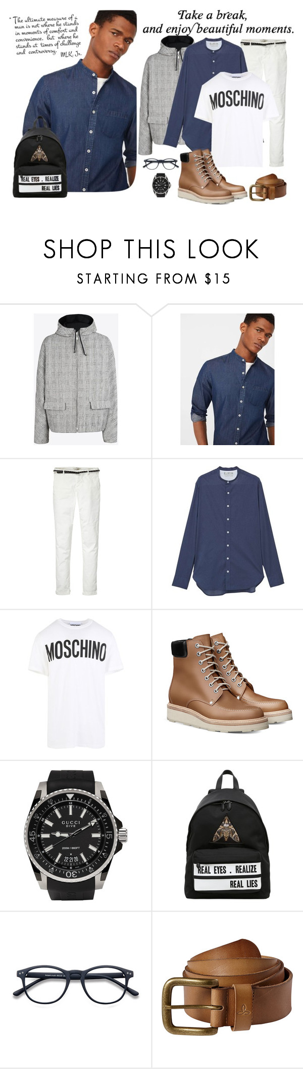 """My world was better by his side."" by lucas-lucas-c ❤ liked on Polyvore featuring Maison Margiela, MANGO MAN, Maison Scotch, MANGO, Moschino, Gucci, Givenchy, prAna, men's fashion and menswear"