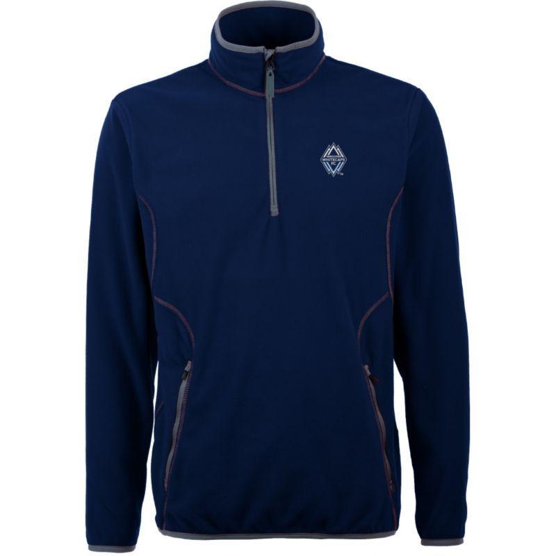 a0b08dcce7f6 Antigua Men's Vancouver Whitecaps Ice Navy Quarter-Zip Fleece Jacket, Size:  Medium, Team