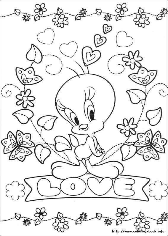 Tweety 65 Coloring Page Free Printable Coloring Pages Bird Coloring Pages Love Coloring Pages Valentine Coloring Pages