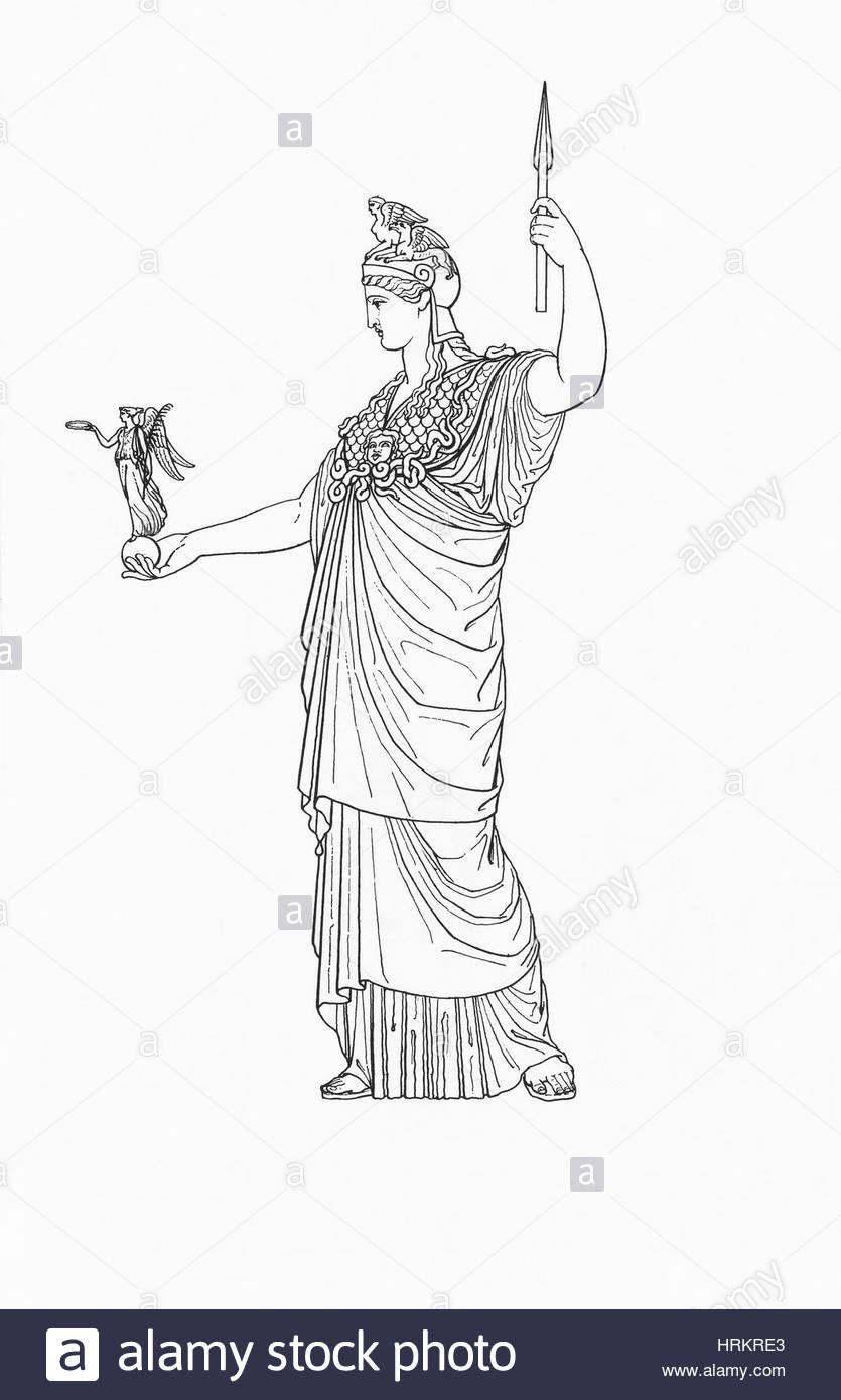 Download This Stock Image Athena Greek Goddess Of Wisdom