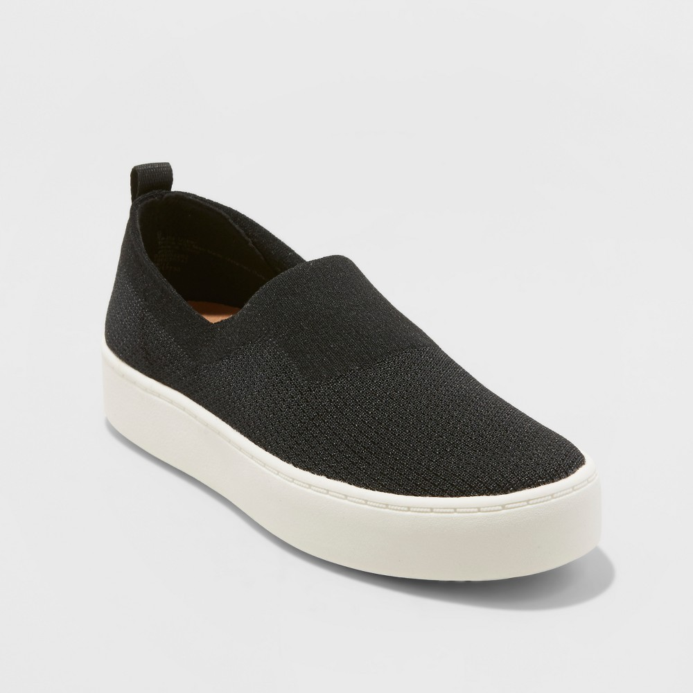 40a5f59b6ae Women s dv Shyanne Stretch Slip On Knit Sneakers - Black 9.5 ...