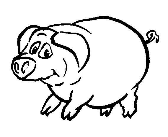 Schwein Ausmalbilder Tiere Ausmalbilder Vektorisieren