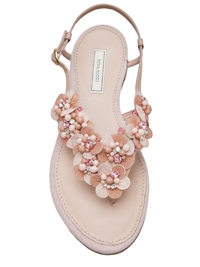Nina Ricci Embroidered Sandal