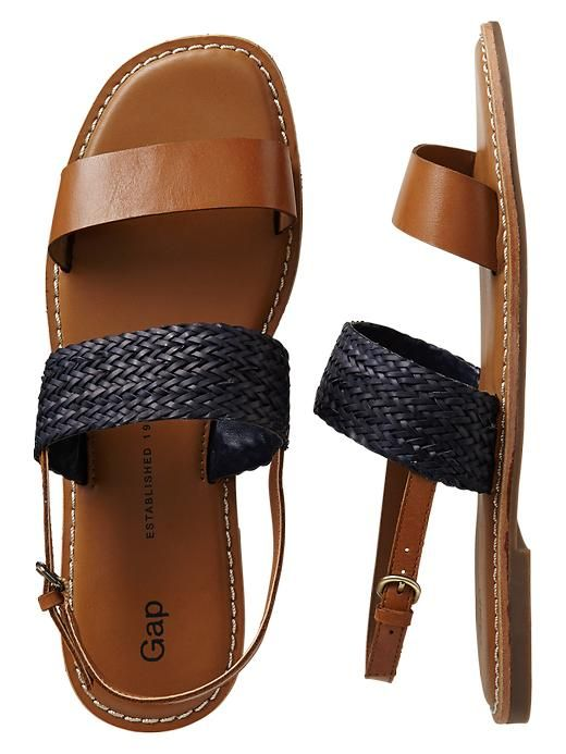 two band woven sandals.