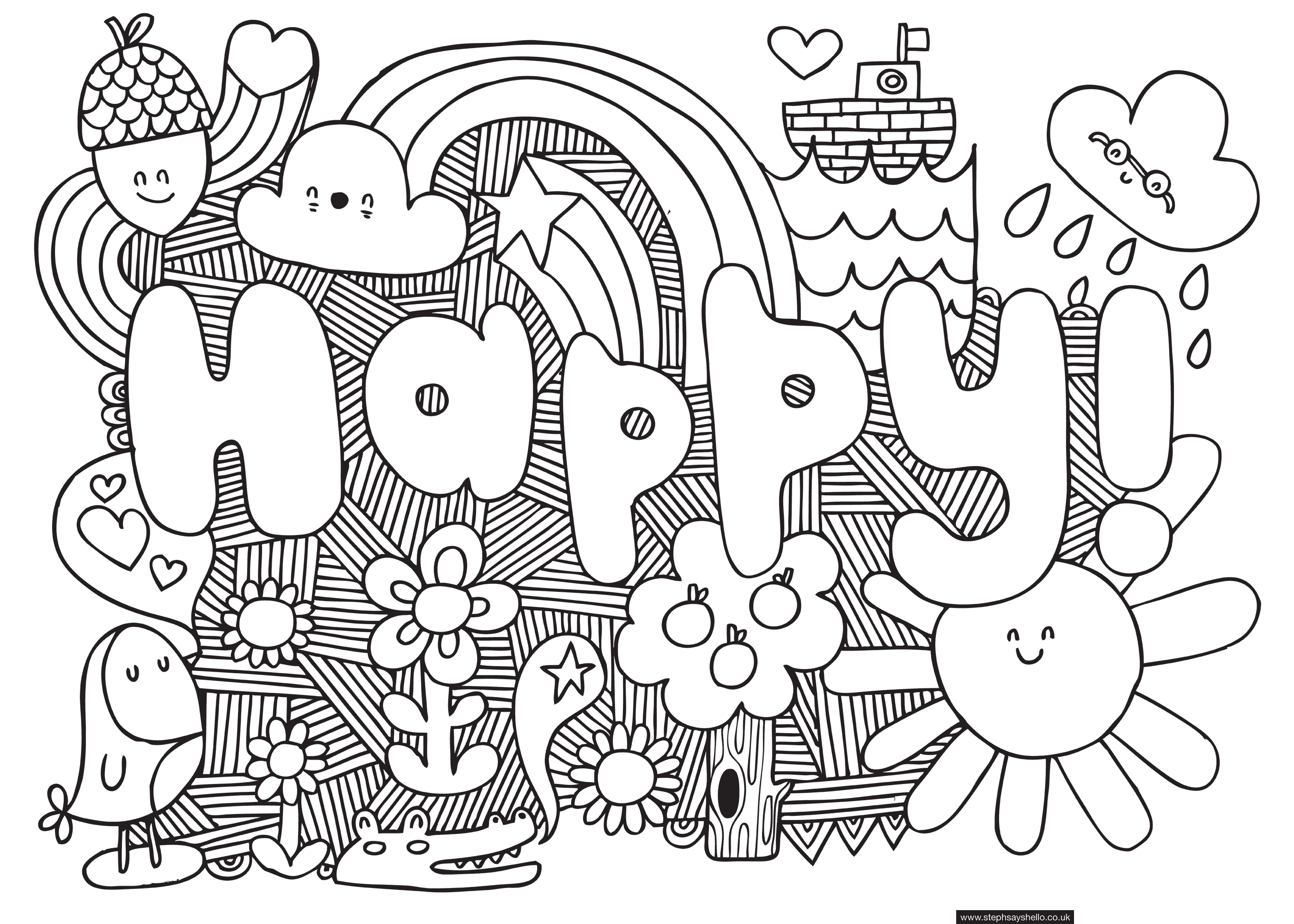 carlton hibberts patterns for colouring 0160 guest pattern by steph baxter coloring sheets for kidscool - Color Patterns For Kids