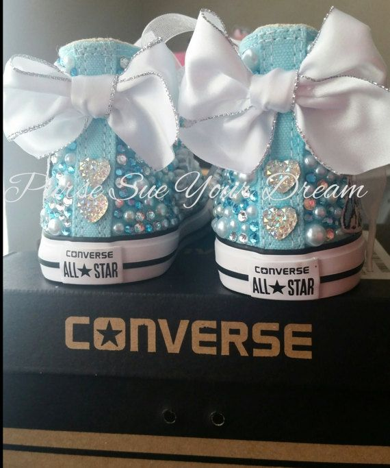 6dc128ea649f58 Disney Frozen Themed Custom Converse Shoes - Frozen Birthday - Anna ...