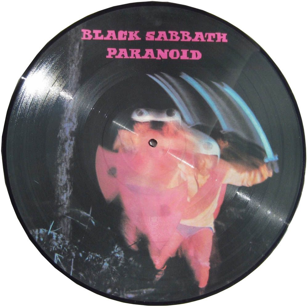 Black Sabbath Paranoid Nems Date Unknown Limited Edition Uk Picture Disc Version Of The Classic 1970 Album Rare Records R B Albums Black Sabbath