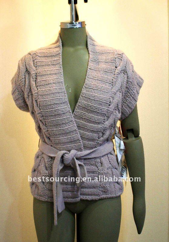 women's winter outwear short sleeve cardigan wool cashmere loose ...
