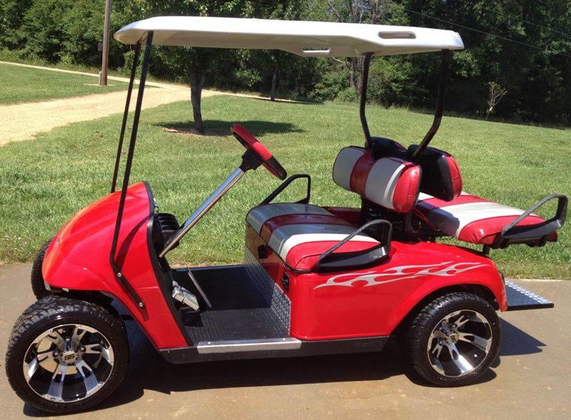 Ezgo Gas Powered Custom Golf Cart Modified To Run 26mph