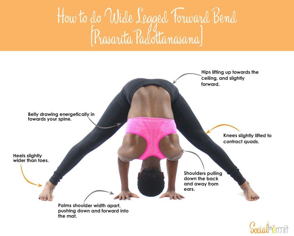 How to do Wide Legged Forward Bend   Side angle pose, Yoga ...