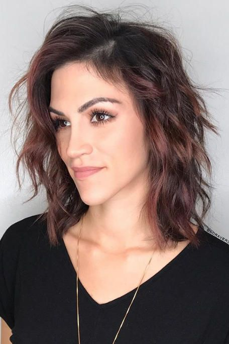Layered Shoulder Length Hairstyles For Long Faces 8