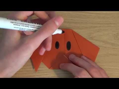 Step By Step Instructions How To Make Origami A Dog (face ... | 360x480