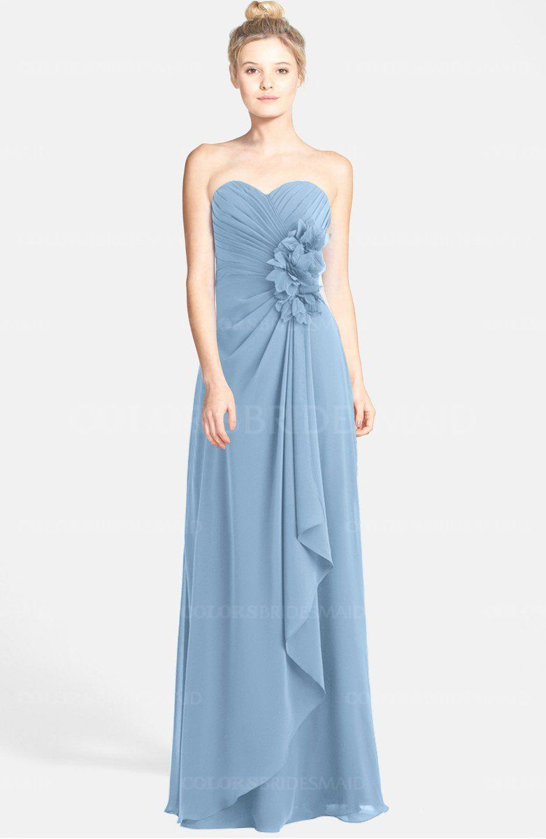 Colsbm brenna sky blue bridesmaid dresses dusty blue