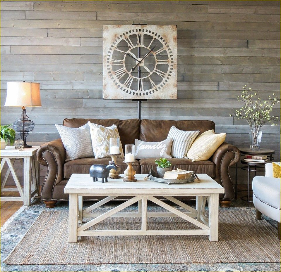 Super 42 Fresh Modern Farmhouse Living Room With Leather Sofa Dailytribune Chair Design For Home Dailytribuneorg