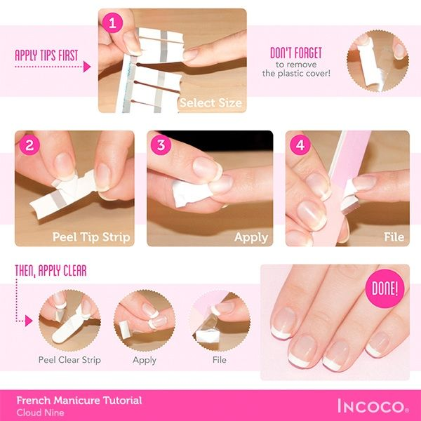 Tutorial French Manicure French Nails Manicure Tutorials French Manicure