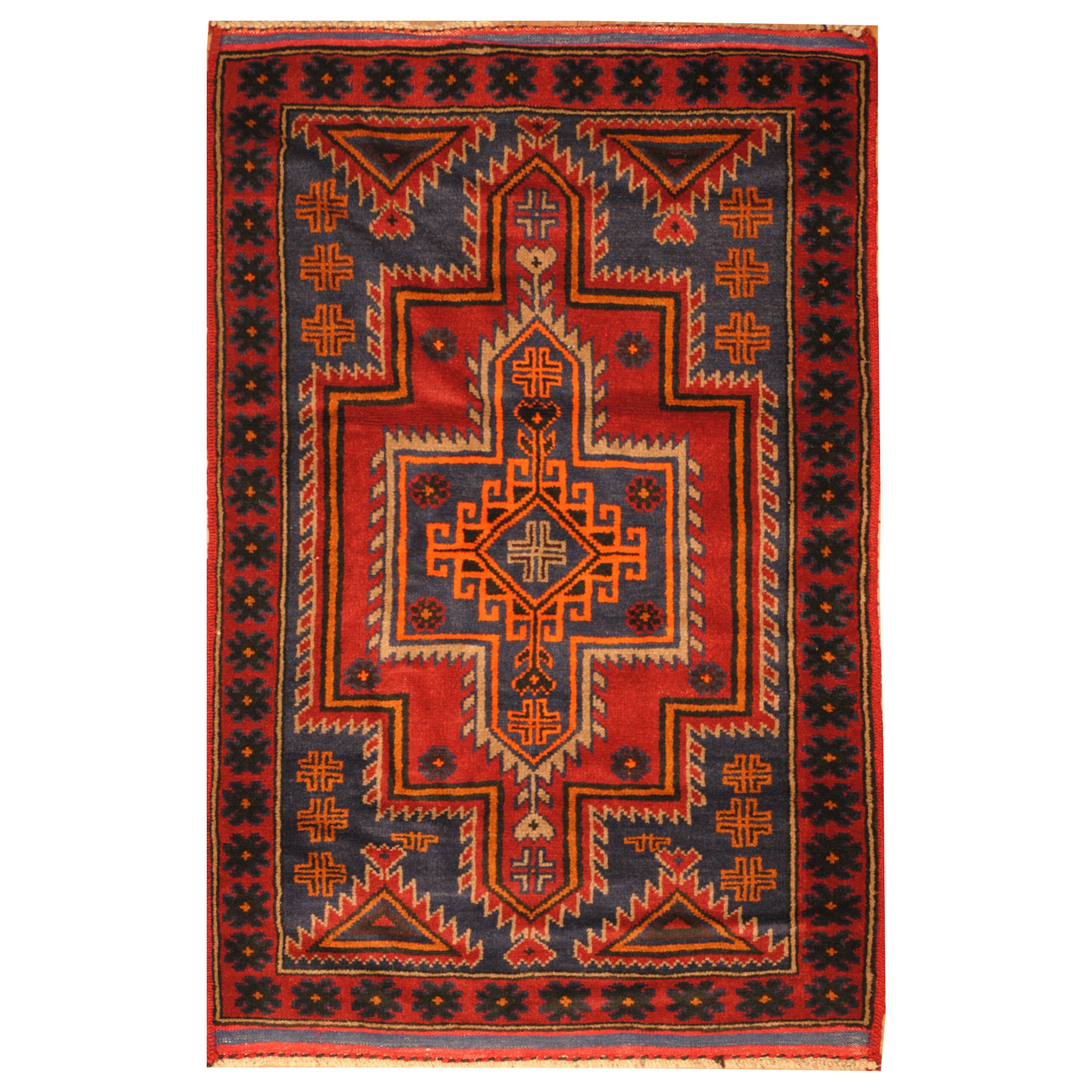 Handmade Herat Oriental Afghan Hand Knotted Tribal Balouchi Wool Area Rug 2 11