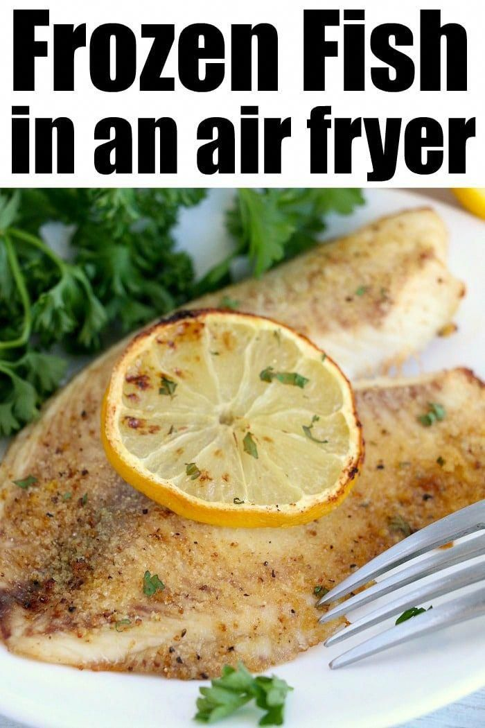 Frozen fish in air fryer is the way to go! Flaky tender
