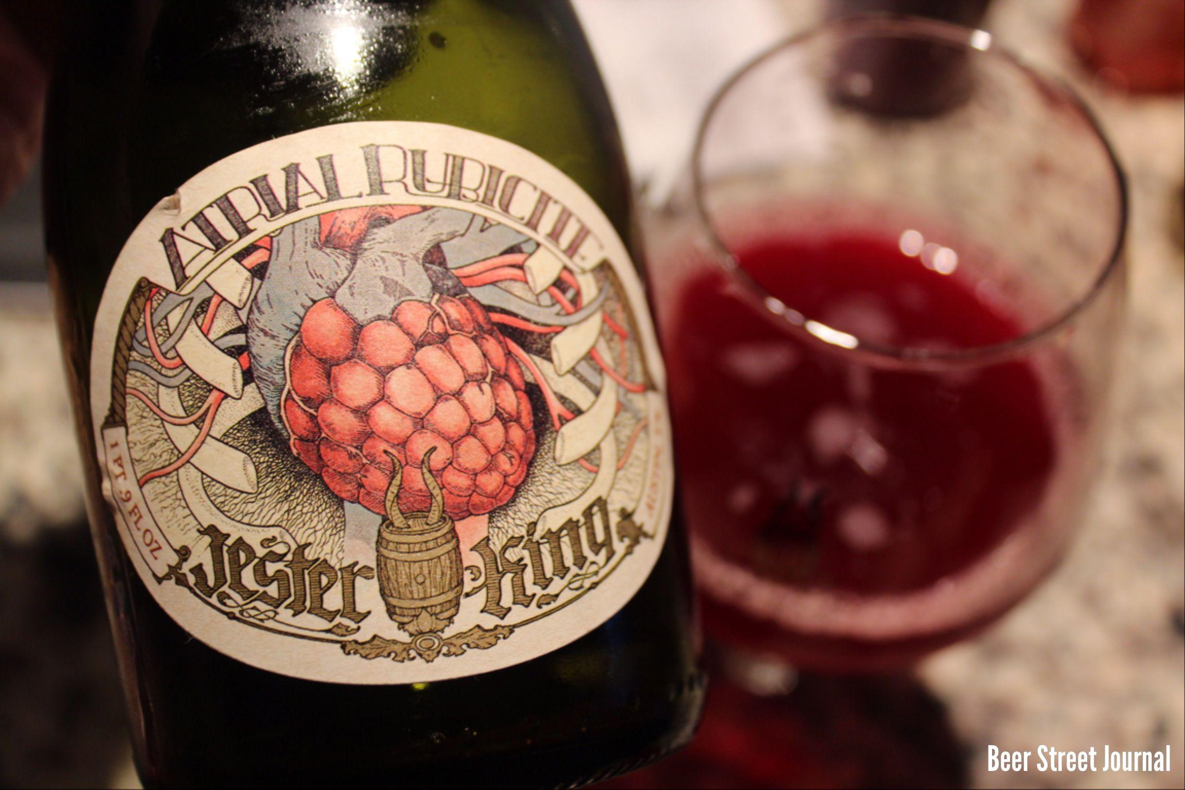 Jester King Atrial Rubicite American Wild Ale Oak Aged With Raspberries 5 8 Beer Label Wine Bottle Beer
