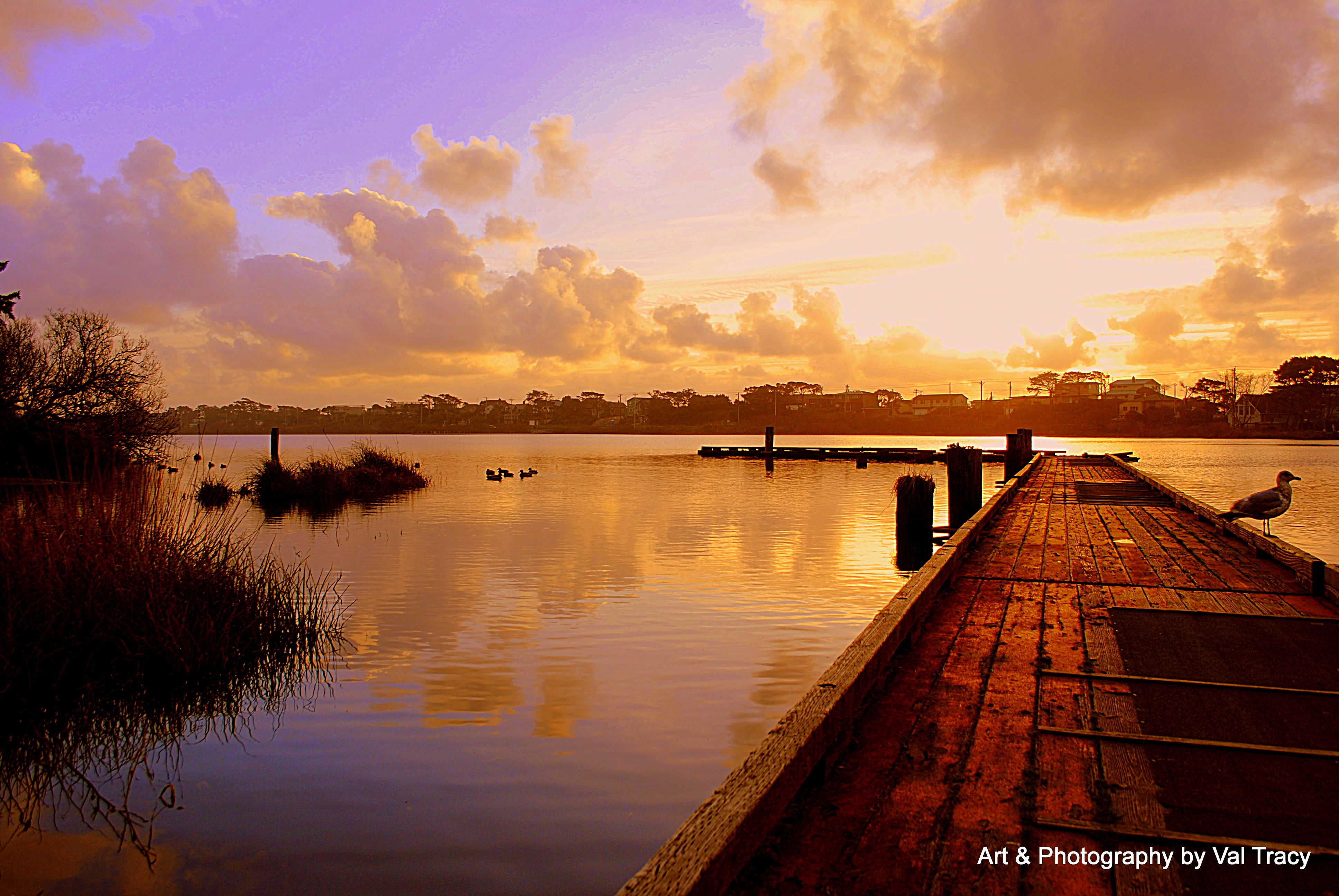 Lake Lytle Rockaway Beach Oregon Sunset