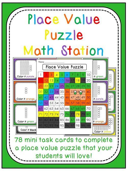 St Patricks Day Math Center Place Value 100 Chart Puzzle Math