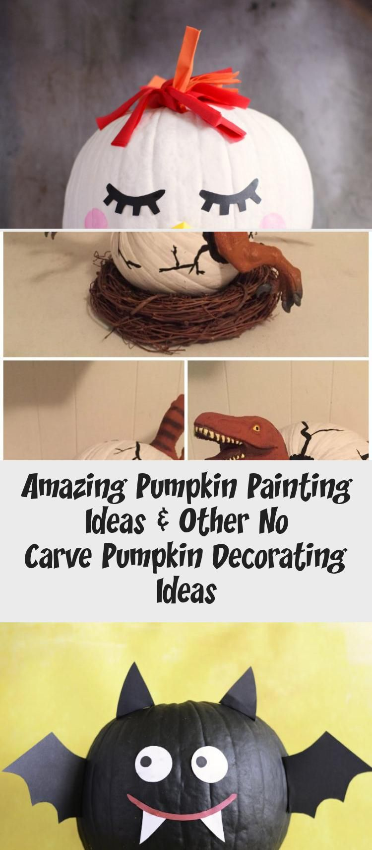 Amazing Pumpkin Painting Ideas & Other No Carve Pumpkin Decorating Ideas #paintingideasCreative #Potterypaintingideas #Smallpaintingideas #Fallpaintingideas #paintingideasBeginner #pumpkinpaintingideascreative