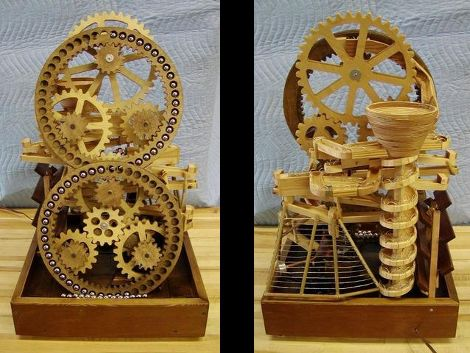 Build Plans For A Wooden Marble Machine Diy Pdf Wooten Desk Plans Marble Machine Rolling Ball Sculpture Marble Toys