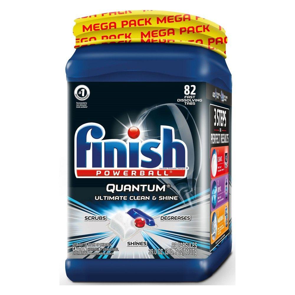 Finish Quantum Ultimate Clean Shine Dishwasher Detergent Tabs 82ct Dishwasher Detergent It Is Finished