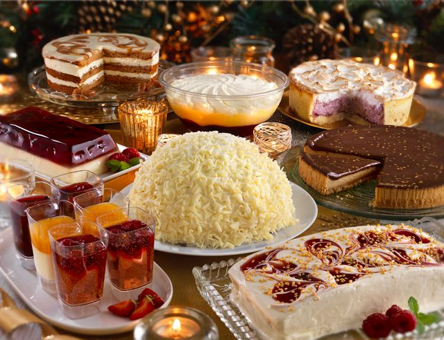 Top off your New Year's party with delicious desserts. Naughty, but nice! See in store for the full range.