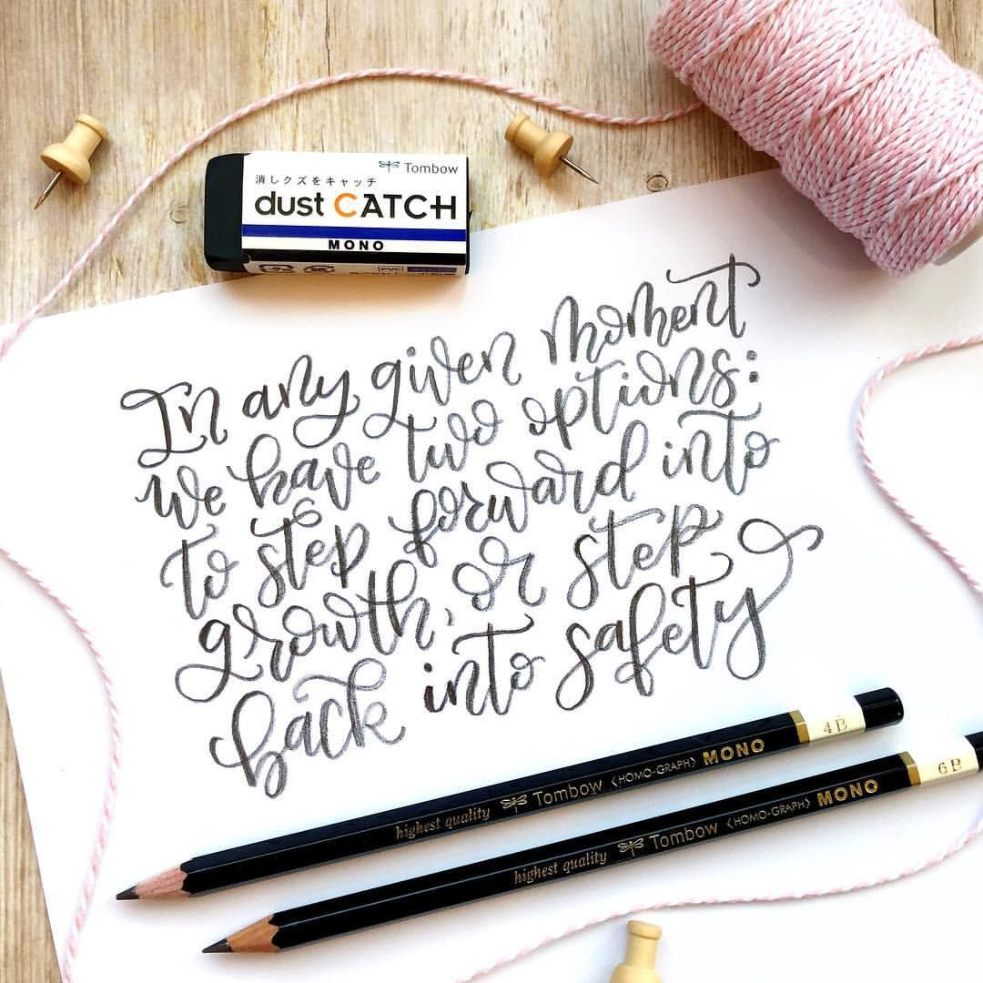 Pencil calligraphy with Tombow pencils Instagram