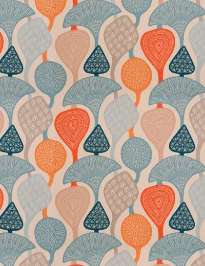 Lively orange & petrol curtains. 100% cotton. available instore from ...