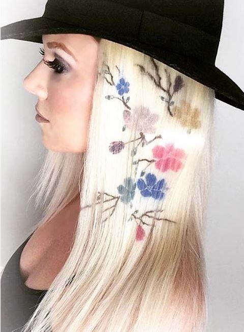 Son Saç Trendi: Saç üzerinde 10 Renkli şekiller ve Desenler