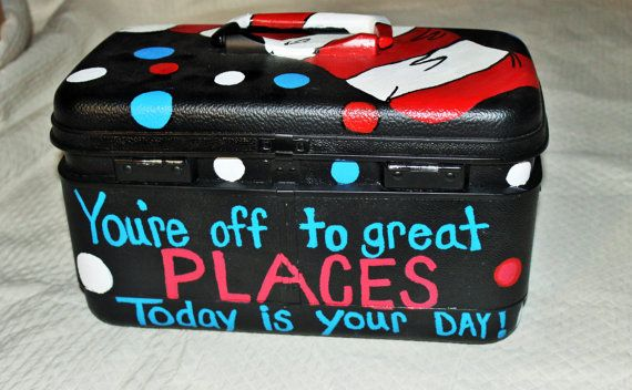 Upcycled painted Dr. Seuss Cat in the Hat by SBubblesCreations
