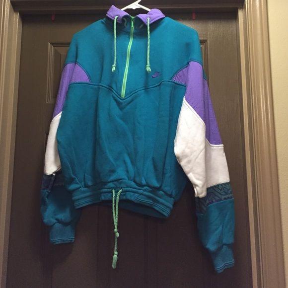 69e65828de87 Vintage quarter zip Nike crew neck Retro Nike sweatshirt. Ties at the  bottom. Size medium but would fit a small. Nike Jackets   Coats